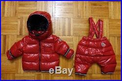 1d937dc39 MONCLER Baby Boy's Red Down Jacket Coat Puffer Snowsuit Size 3-6 ...