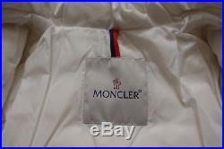MONCLER Jules Baby Girl's White Down Jacket Coat Puffer Size 3-6 Months