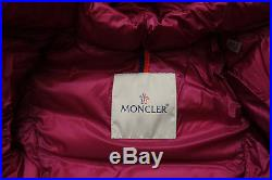 MONCLER Majeure Baby Girl's Pink Down Jacket Coat Puffer Size 3-6 Months