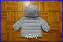 MONCLER Odile Baby Girl's Blue Down Jacket Coat Puffer Size 6-9 Months