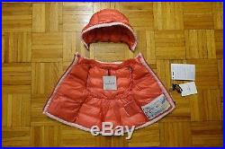 MONCLER Pelagie Baby Girl's Coral Pink Down Jacket Coat Puffer Size 3-6 Months