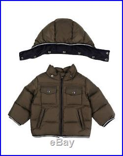 MONCLER Thomas Baby Boy's Forest Green Down Jacket Coat Puffer Size 6-9 Months