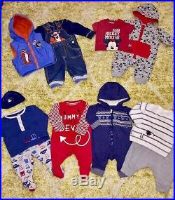 Massive 140 Item Newborn 0-3 Baby Boy Bundle Autumn Winter All You Need