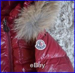 Moncler Baby Boy Or Girl Designer Fox Fur Down Filled Red Puffa Coat 6-12 Months