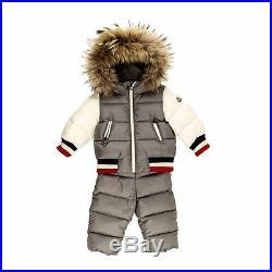 Moncler Baby Boy Sanaz Schnee Anzug grau Jogginganzug Jacke Mantel NP 579,00
