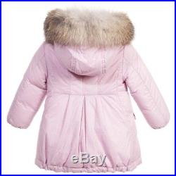 Moncler Baby Girls Pink Arrious Down Padded Coat NWT MSRP $630