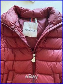 Moncler Baby Girls' Size 2 Burgundy Majeure Coat 92CM Winter Down Ski Jacket