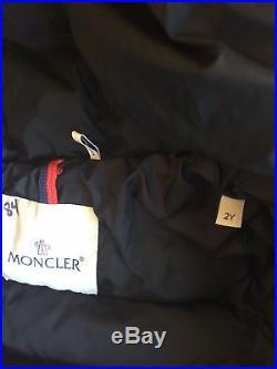 Moncler Boy Down Feather Black Silver Winter Coat Size 2y