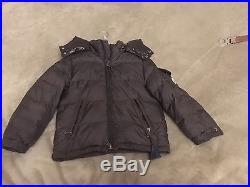 Hood Baby Toddler Moncler 4 4T Years With Brown Down Jacket Boy AqHHxzB