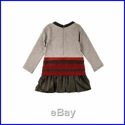 Moncler Mädchen Langarm Kleid grau Festlich Herbst Winter Tunika NP 177