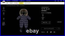 Moncler NEW JEAN Down Baby Snowsuit size 9 12 months New & Original