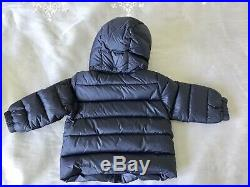 Moncler Navy Blue Down Hooded Winter Coat 9-12 Months