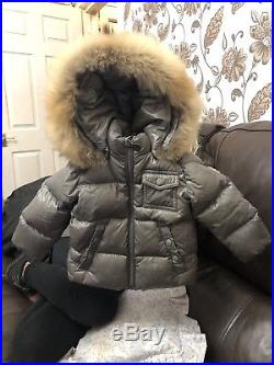 Moncler jacket baby With Detachable Fur And Hood