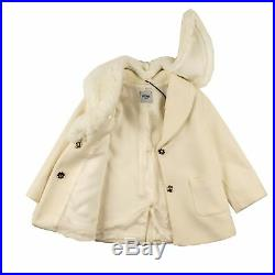 Moschino Baby Girl Woll Mantel cremeweiss Winter Jacke NP 304