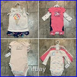 NEW 39 Clothing Items Baby Girl 0-3 Months Lot
