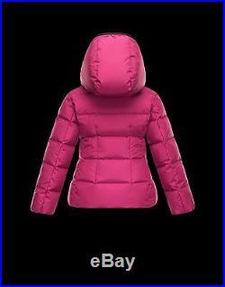 NEW $525 Moncler Girls AUBETTE Raspberry Down Puffer Jacket Parka, Sz 3A /100cm