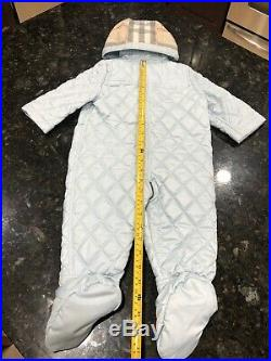 NEW 9-12 Months Authentic Burberry Baby Boys Snowsuit Swaddle Jacket Coverall