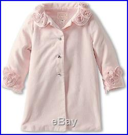 NEW NWT Baby Biscotti Girl Kate Mack Pink Coat Jacket Roses Flowers 24M 2T Tulle