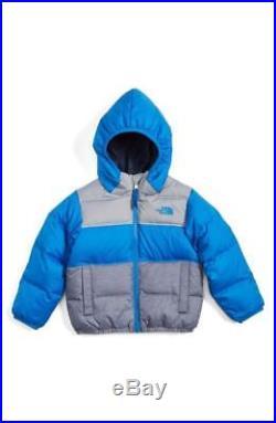 NEW The North Face Boys Moondoggy Reversible Down Jacket Blue Sz 5T