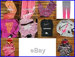 NIKE GIRLS 4T 10pc WINTER CLOTHING DRI-FIT HOODIES & LEGGINGS AUTHENTIC $350