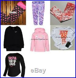 NIKE GIRLS 4T 8pc WINTER CLOTHING HOODIES & LEGGINGS Sweatshirt $214