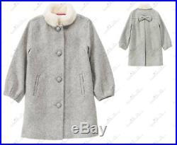 NWOT Janie and Jack WINTER BRIGHT 2T 3 Gray Melton Coat