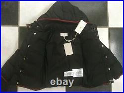 NWT 100% AUTH Gucci Baby Boy Technical Ski Nylon Down Jacket Sz 24 M 347595
