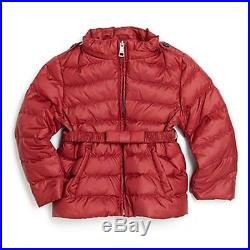 NWT BURBERRY $295 Baby Girls Nova Check Down Kids Winter Coat Jacket 3 Months