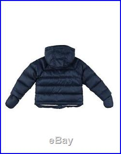 NWT Burberry Baby Boys Rilla Hooded Down Jacket Navy Blue 12 Month $250