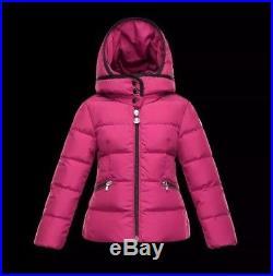 brand new 6b0ed 52351 NWT Girls Moncler AUBETTE Raspberry Puffer Jacket Parka, Sz ...
