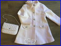 NWT Janie And Jack Petal Pink Bow Collar Coat 3 + Pink Purse