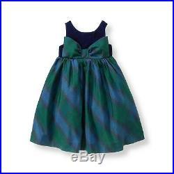 NWT Janie & Jack TARTAN BEAUTY 5 5T Navy Plaid SILK Dress & Cardigan Christmas