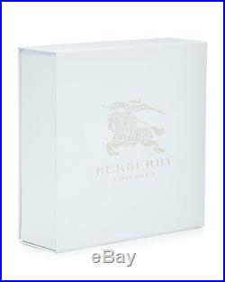 NWT NEW Burberry Berty baby boys white top pants bib 3pc gift set 12m or 18m