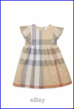 NWT NEW Burberry Mini Gertrude nova check dress 18m