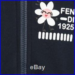 NWT NEW Fendi Baby Girls navy blue 2pc hoodie tracksuit jacket pink leggings 3m