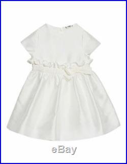 NWT NEW Fendi Baby Girls white silk blend logo text dress 3m RT $500+