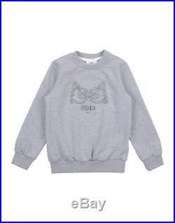 NWT NEW Fendi baby Girls gray heather bow logo sweatshirt pants tracksuit set 3m