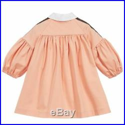 NWT NEW Fendi baby girls pink FF logo dress 3m