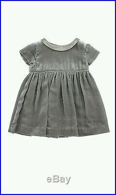 NWT NEW Gucci baby toddler girls gray velveteen velvet dress 18/24 or 24m 357068