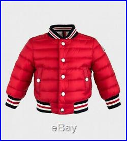 NWT NEW Moncler Cadarsac boys red down feather puffer jacket coat 2Y