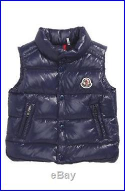 NWT NEW Moncler Enfant Bernard dark boys blue puffer gilet vest 9/12m