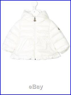 NWT NEW Moncler Enfant Odile Baby toddler girls white jacket coat 9/12 12/18m