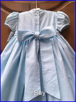 NWT STRASBURG Boutique 24M 2 2T Crystal Blue Smocked Special Pageant Party Dress
