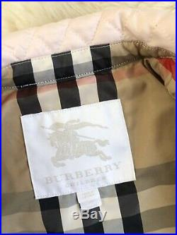 New Authentic Burberry Pink Kids Infant Baby Girl Coat Jacket 12m