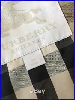 New Authentic Burberry Porcelain Blue Kids Infant Baby Boy Girl Coat Jacket 3m