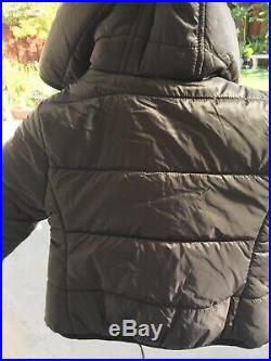 New Black/MLT Fendi Kid Floral Moster Hooded Puffer Jacket Size 2