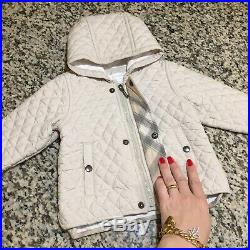 New-Born 3-6 Months Authentic Burberry Jacket Baby Boys Girls Swaddle Snow Suit