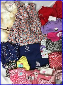 New Born Baby Girl Huge Bulk Lot Of 140 Pieces, Various Clothing & Brands