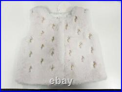 New CHLOE logo Baby Girl Clothing White Faux Fur c05320/117 03A Year-3 PRP£179