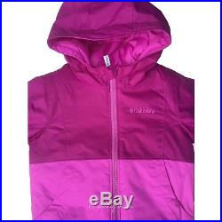 New Girls $130 Columbia Twisty Cliffe Set reversible winter jacket snow suit 2T